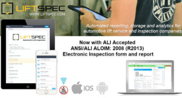 Liftspec, a lift inspection software, now has ALI Accepted electronic inspection forms for ALI Certified Automotive Lift Inspectors.